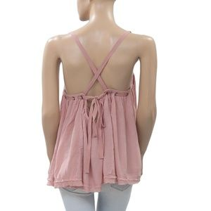 Free People Tops - Free People Waiting For You Laceup Studded Top S
